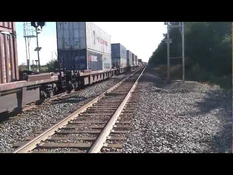 Jumping off a train