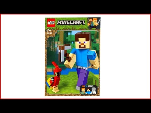 LEGO MINECRAFT 21148 Steve with Parrot Construction Toy - UNBOXING