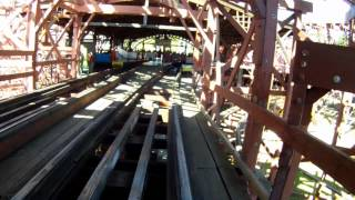 Racer Wooden Roller Coaster POV Kennywood Amusement Park Front Seat On-Ride