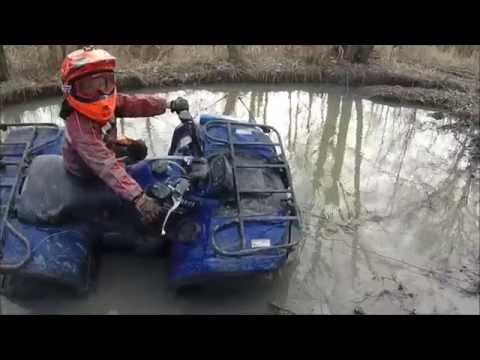 Yamaha kodiak 450 EPS & Yamaha Grizzly 125 DEEP MUD Part 2