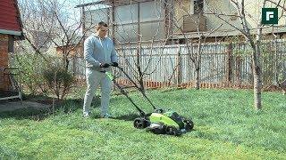 видео Электрические газонокосилки для дачи - цены