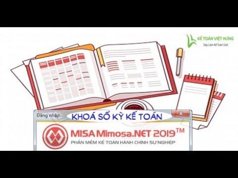 Hướng dẫn khóa và mở sổ kỳ kế toán trên misa 2019