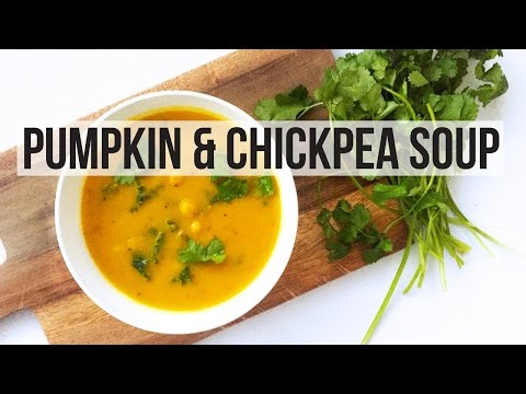 CHICKPEA & PUMPKIN CURRY SOUP RECIPE | VEGAN | LOW FAT