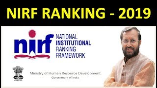 NIRF Ranking 2019 , Ranking of Institutes,colleges & Universities in 2019 acc to NIRF,MHRD
