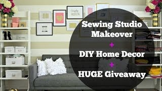 Sewing Studio Tour + DIY Room Decor Thumbnail