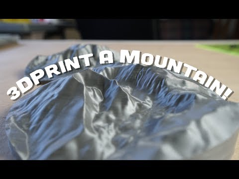 How To 3D Print A Mountain (Or Any Terrain Of Your Choice!)