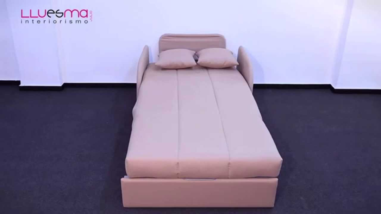 Sill n cama estrecho de calidad es interiorismo youtube for Sillon cama oferta