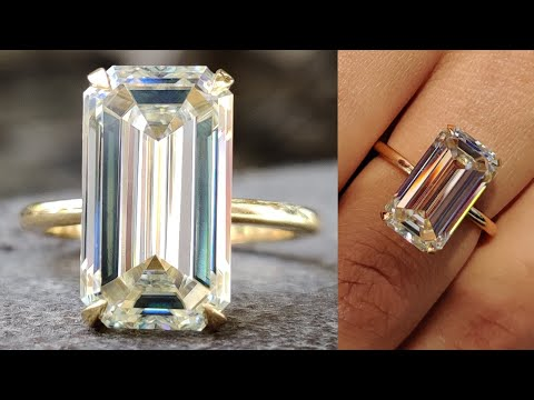 6.33-ct-light-yellow-emerald-moissanite-solitaire-engagement-ring-|-wedding-ring-|-anniversary-gift