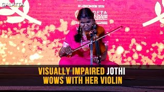 Visually Impaired Jothi Wows With Her Volin