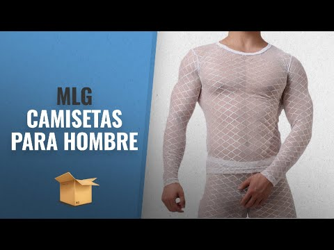 Mlg 2018 Mejores Ventas: MLG Mens Rhombus Mesh Breathable See Through Plaid Tunic Top Shirts