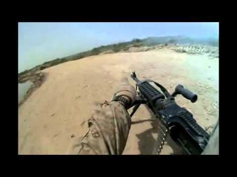 Afghanistan Raw Footage US Marine Patrol Ambush & Firefight