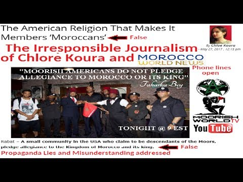 Slanderous journalism of Moroccan World News Concerning Moorish Americans