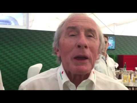 Jackie Stewart a Monza con Heineken