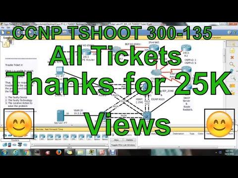 CCNP TSHOOT 300-135 16 Tickets