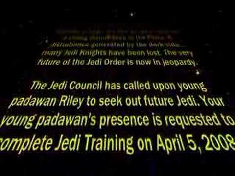 Star Wars Intro Style Birthday Invitation