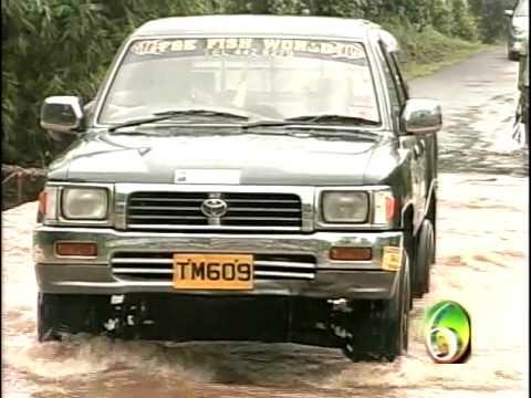Grenada News: Heavy Rains Cause Flooding of Balthazar Bridge, May 27, 2010