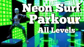 How to Complete Neon Surf Parkour Course Fortnite Creative Guide