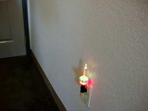 Christmas Bubble Light made into night light. - YouTube