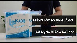 Miếng lót sơ sinh là gì Cách sử dụng miếng lót sơ sinh như thế nào likado vn