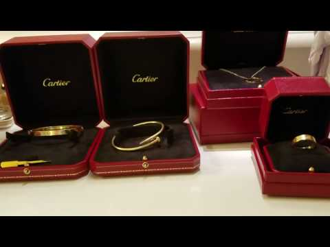 Cartier Jewelry collection. LOVE, Juste Un Clou . How to shop for Cartier  PART 1