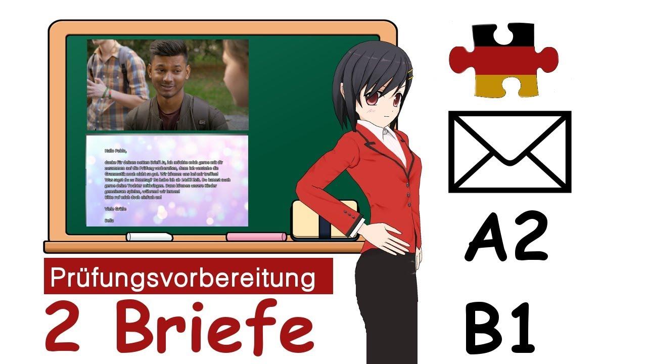 Deutsch Briefe Schreiben Prüfung B1 Und A2 Musterbriefe