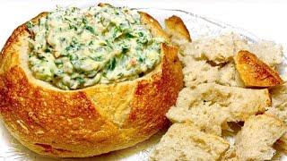 EASY Spinach Dip in a Sourdough Bread Bowl Recipe  Vegan