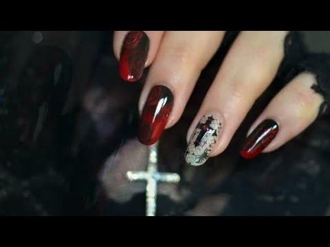 Halloween nail art chic glam youtube prinsesfo Gallery