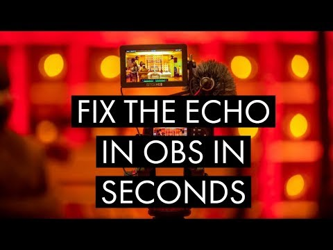 Fix your OBS echo problem in seconds.