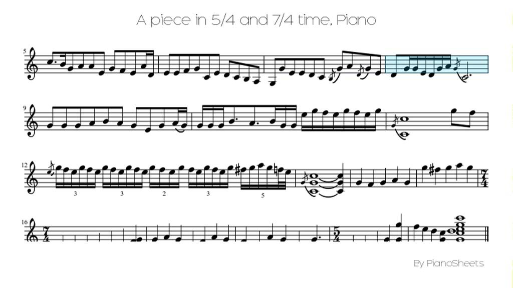 Piano mission impossible piano sheet music : A piece in 5/4 and 7/4 time [Piano Solo] - YouTube