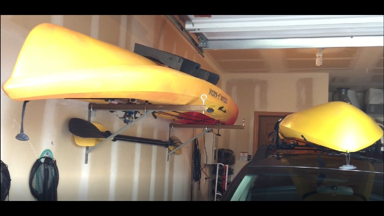 Home Made Kayak Rack Youtube