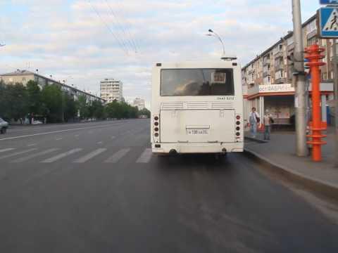 Кемерово. Автобус 94, направление - ул.Свободы. Bus route 94, destination - Svobody str.