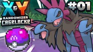AN INSANE START - Pokémon X and Y Randomizer Cagelocke w/FeintAttacks PART 1!