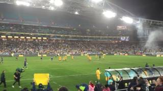AUSTRALIA VS GREECE SOCCER MATCH AT SYDNEY ANZ STADIUM