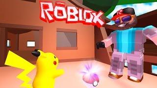 I CAUGHT PIKACHU!!   Pokémon Brick Bronze [#10]   ROBLOX