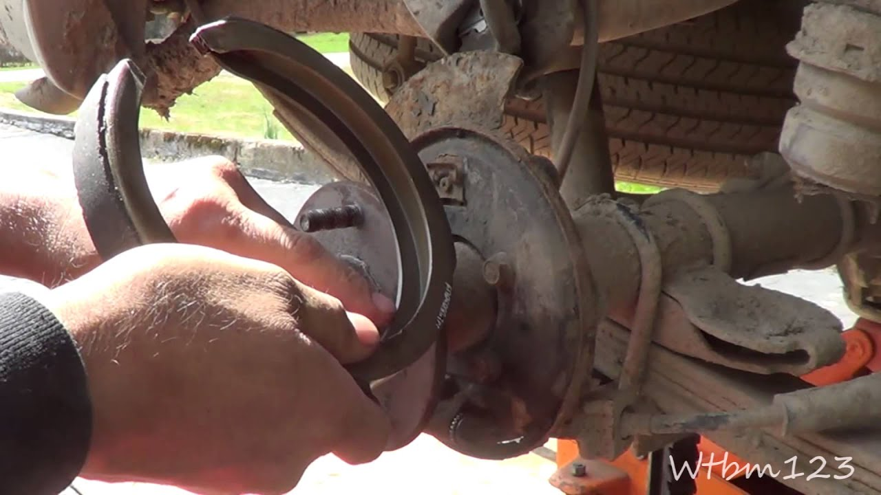 Emergency Brake Diagram Chevy Blazer Parking Shoe Replace Youtube
