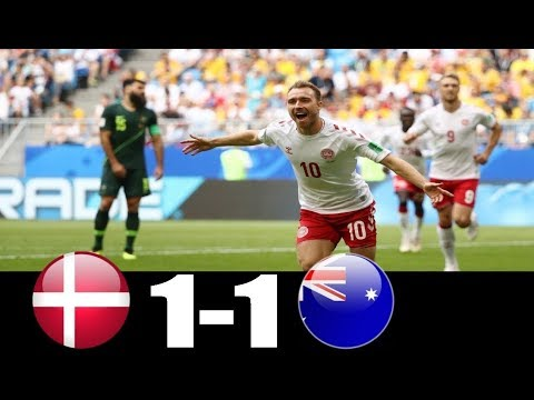Denmark Vs Australia  (1 - 1)  World Cup 21/06/2018