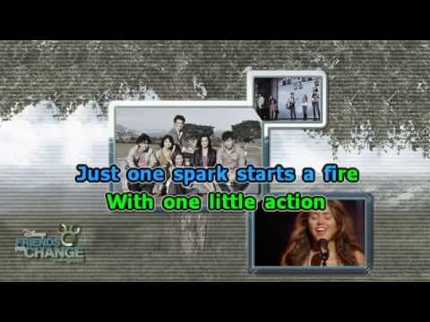 DISNEY CHANNEL STARS  SEND IT ON [karaoke version]