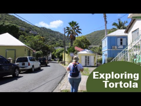 1st Visit to TORTOLA [exploring on foot from cruise port] Travel Vlog episode 16