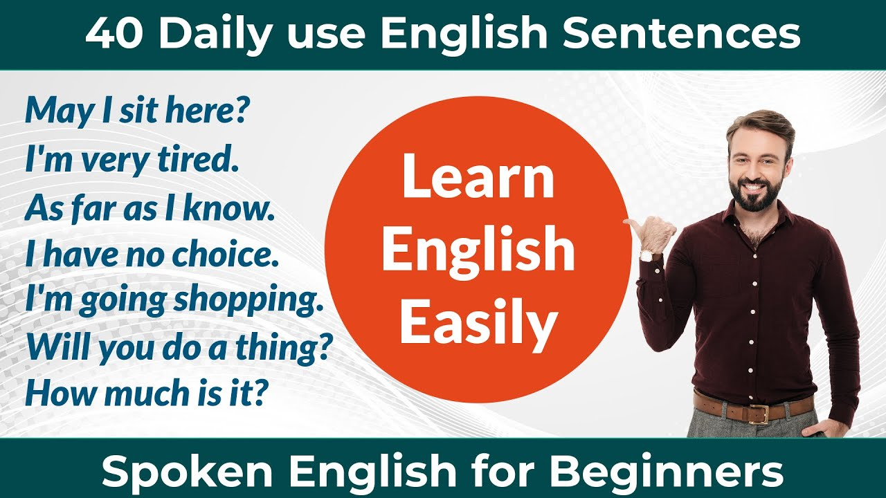 40 Most Common English Sentences for Beginners || Daily Use English Sentence || Short sentences