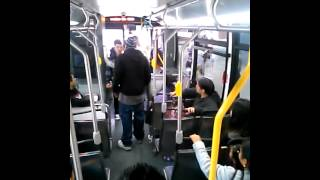 Downtown L.A. bus FIGHT!!!