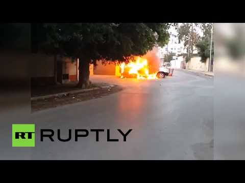 Exclusive video: Russian embassy attacked in Libya (Immediate aftermath)