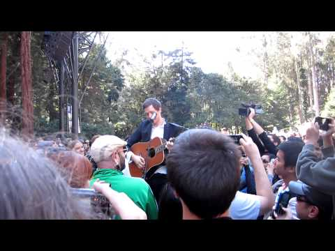 Damian Kulash of OK GO, live at Stern Grove in San Francisco, Aug 26, 2012