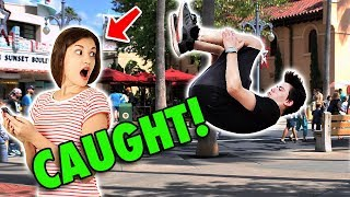 We Got Caught Doing Sneaky Flips!!! DisneyWorld Asked us to Stop!