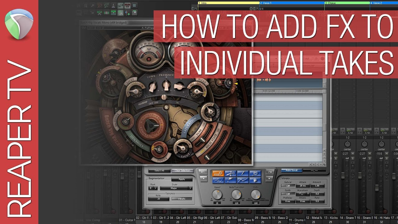 How to Add FX To Individual Takes in Reaper DAW - Reaper TV