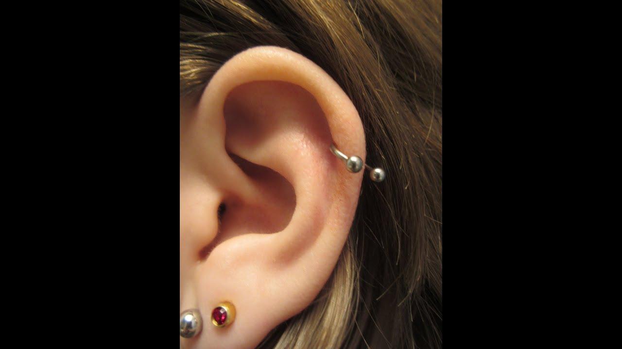 Excepcional Como Colocar Piercing da Hélix em Casa - YouTube MF41