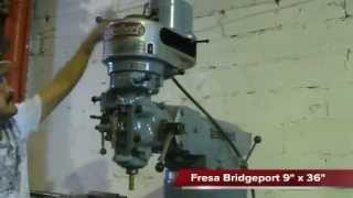 "Fresadora Bridgeport 9"" x 36"" / Maquinaria Chicago"