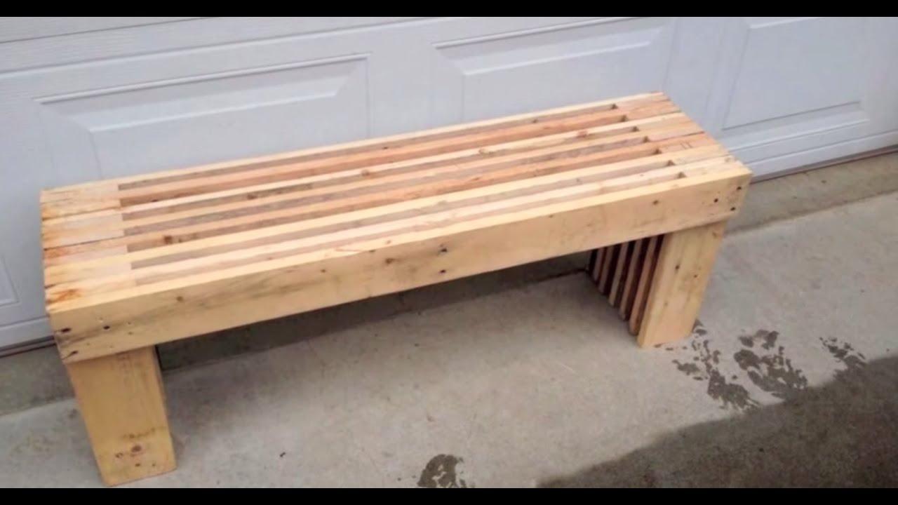 Pallet Bench Diy Youtube