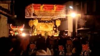 平成25年 岩壺神社秋祭り・本宮 上ノ丸駅前 滑原と大手