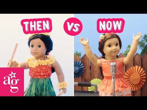 Best Birthday Ever! | Then Vs Now Stop Motion | American Girl