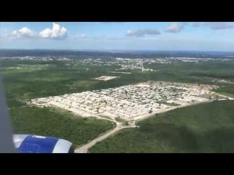 Landing at Punta Cana Dominican Republic Airport